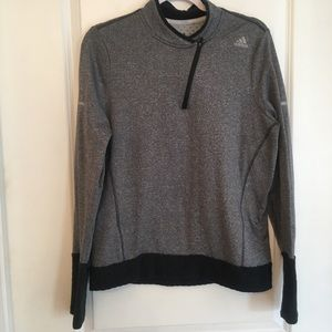 Adidas gray black athletic jacket size large